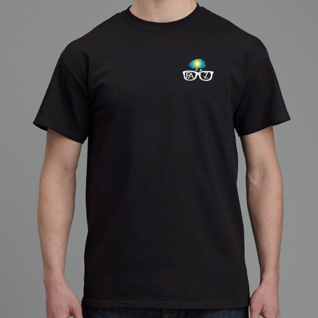 Bruce's Basic Black Tee : FAZ™ - Front View