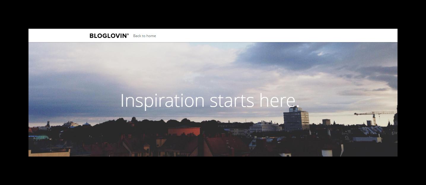 Blog Readers INSPIRATION STARTS HERE
